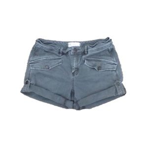 FREE PEOPLE Gray High Waist Cuffed Shorts